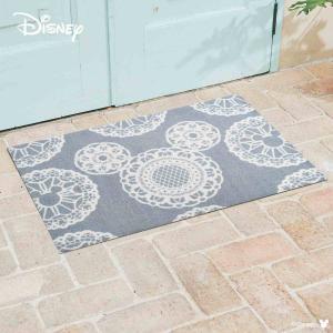 玄関マット Disney ディズニーMickey/ミッキー レース グレー 60×90cm|kobelongtail