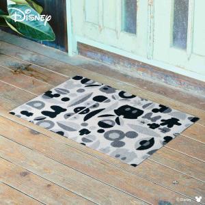 玄関マット Disney ディズニーMickey/ミッキー&ミニー モチーフ グレー 50×75cm|kobelongtail