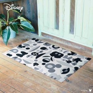 玄関マット Disney ディズニーMickey/ミッキー&ミニー モチーフ グレー 75×120cm|kobelongtail