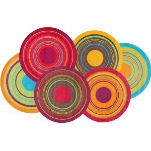 ラグ ラグマット 長方形 洗える おしゃれ wash+dry Cosmic Colours / Cosmic Colours nature 110×175 cm|kobelongtail|02