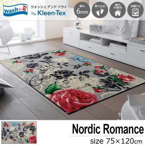 玄関マット 屋外 室内 洗える 滑り止め wash+dry Nordic Romance 75×120cm|kobelongtail