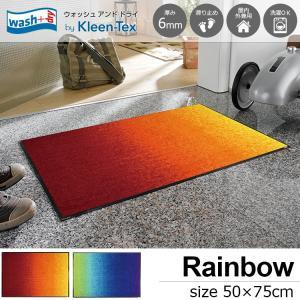 玄関マット 屋外 室内 洗える 滑り止め Red Rainbow 50 x 75cmの写真