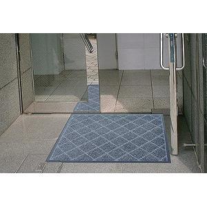 玄関マット除塵 吸水 屋外 室内 滑り止め スタンダードマット EX 90 x 180 cm  シルバー|kobelongtail|02