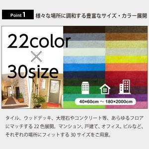 玄関マット 業務用 屋外 屋内 室内 無地 滑り止め スタンダードマットS 選べる22色 30サイズ 60×90cm|kobelongtail|02