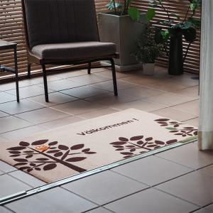 玄関マット 屋外 室内 洗える 滑り止め Valkommen 70×120cm|kobelongtail|02