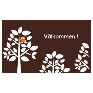玄関マット 屋外 室内 洗える 滑り止め Valkommen 70×120cm|kobelongtail|05