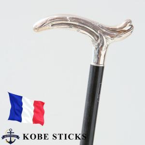 杖 つえ ステッキ おしゃれ フランス ファイエ社製 芸術的に美しいシルバーステッキ(スタミナウッド・カサブランカ) kobesticks