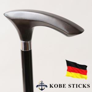 杖 つえ ステッキ おしゃれ 老舗 ドイツ ガストロック製 世界最高峰の木製ステッキ(六角形の黒檀ステッキ) 木製 専門店 高級 かっこいい かわいい 介護|kobesticks