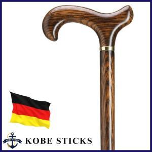 杖 つえ ステッキ おしゃれ ドイツ製 オーク(樫)材本来の美しい木目を楽しむ紳士なステッキ 木製 高級 かっこいい 男性 介護|kobesticks