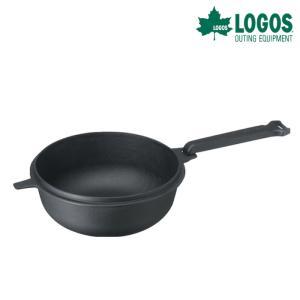 ロゴス LOGOS 合体できる深型スキレット M 81062236|kobeya-sp