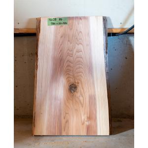 【板材】【1点もの】杉材 無垢板 節有り 長さ780mm 厚み33mm 幅440mm 1枚 荒削り 耳付き|kobikiya