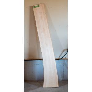 【板材】【1点もの】桧材 無垢板 小節有り 長さ2100mm 厚み32mm 幅280mm 1枚 荒削り 耳付き|kobikiya