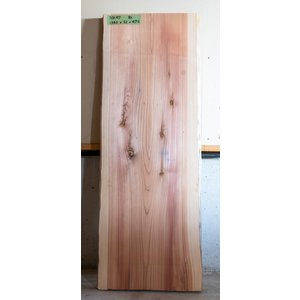 【板材】【1点もの】杉材 無垢板 節有り 長さ1340mm 厚み52mm 幅470mm 1枚 荒削り 耳付き|kobikiya