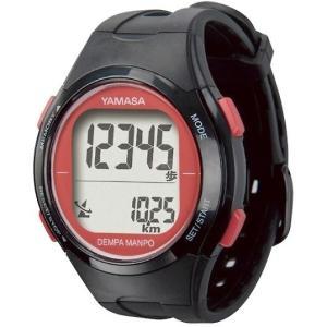 ヤマサ 腕時計 ウォッチ 万歩計 DEMPA MANPO ブラック×レッド TM-500(B/R) TM-500BR
