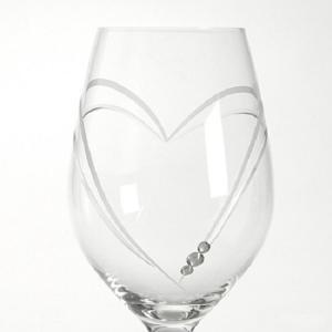 商品名:ワイングラス ハート イン ハート スワロフスキー付き ペア 内容量:360cc サイズ:口...