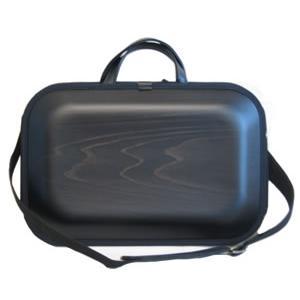 送料無料!monacca bag-kaku(モナッカバッグ角)ブラック(ショルダータイプ)|kochi-bussan