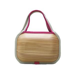 送料無料!monacca bag-kaku-shou(モナッカバッグ角小)プレーン・ピンクエッジ|kochi-bussan