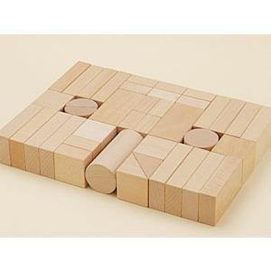 ウッドキューブ(積木)/40ピース・袋入|kochi-bussan