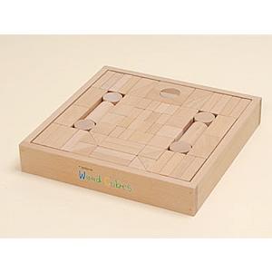 ウッドキューブ(積木)/70ピース|kochi-bussan