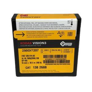 16 mm / 100ft / コダック VISION3 250D カラーネガティブ フィルム 7207 / スプール巻き 片目|kodak