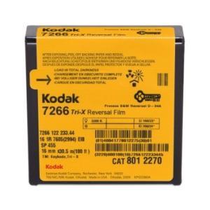 16 mm / 100ft / コダック トライ-X 白黒リバーサル フィルム 7266 / スプール巻き 片目|kodak