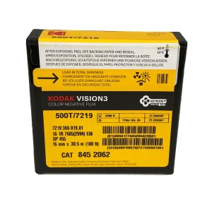 16 mm / 100ft / コダック VISION3 500T カラーネガティブ フィルム 7219 / スプール巻き 片目|kodak
