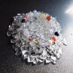 毎日の手軽な浄化に最適  定形外選択で送料無料 浄化 パワーストーン 上質 水晶 さざれ石 100グラム 天然石|kodakara