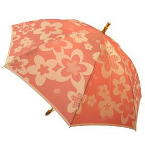 母の日ギフト 傘 傘寿 プレゼント 桜 花柄 槙田商店 甲州織  kirie 桜 ピンク 03659914