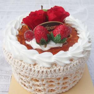 プリザーブドフラワー 小物を入れて使える♪赤いバラとベリーのミニデコレーションフラワーケーキ kodemari-jp