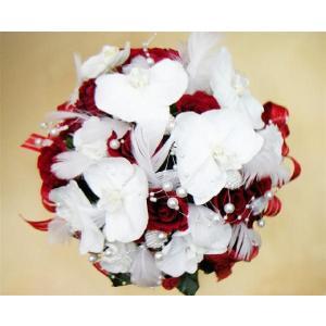 超豪華!胡蝶蘭と真紅のバラのリッチアレンジ|kodemari-jp
