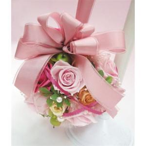ピンクのロマンチックボールブーケ|kodemari-jp