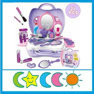 CORPER TOYS 知育玩具 おままごと お化粧セット おもちゃ メイクアップ メイクセット コスメティック 女の子向け 収納トランクセット