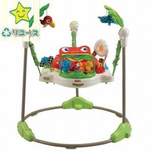 中古品 フィッシャープライス レインフォレスト・ジャンパルー バウンサー ジャンプ 玩具 赤ちゃん コンパクト 洗濯可 運動 YS C|kodomo-cocco