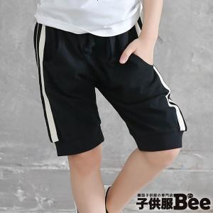 ◇パンツ◇韓国子供服 サイドライン ハーフパンツ スポーティ...