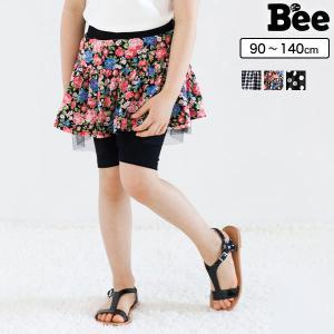 ◇レギンス付きスカート◇韓国子供服 スカッツ 5分丈 ギンガ...