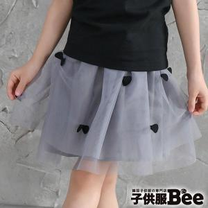 ◇スカート◇韓国子供服 チュール ドット グレー ブラック ...