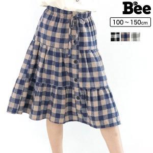 ティアードスカート 韓国子供服 Bee キッズ 女の子 春 秋 冬 100 110 120 130 140 150|kodomofuku-bee