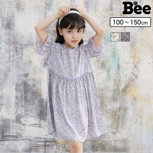 半袖ワンピース 韓国子供服 韓国子ども服 韓国こども服 Bee カジュアル ナチュラル キッズ 女の子 カラバリ 春 夏 100 110 120 130 140 150 kodomofuku-bee