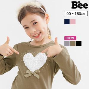 長袖トップス 韓国子供服 Bee カジュアル キッズ 女の子 ハート プルオーバー 春 夏 秋 冬 ...
