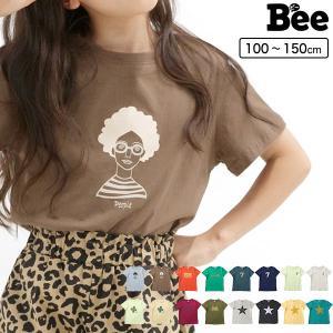 半袖トップス 韓国子供服 Bee キッズ 女の子 プリントT ひげ メガネ サングラス 帽子 春 夏 100 110 120 130 140 150|kodomofuku-bee