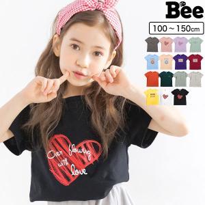 半袖トップス 韓国子供服 Bee キッズ 女の子 男の子 プリントT カラバリ 春 夏 100 110 120 130 140 150|kodomofuku-bee