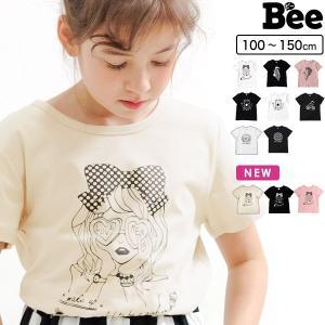 半袖Tシャツ 韓国子供服 Bee キッズ 女の子 男の子 プリントT ロゴ ハートドット ナンバー 春 夏 100 110 120 130 140 150 0704 RELAX|kodomofuku-bee