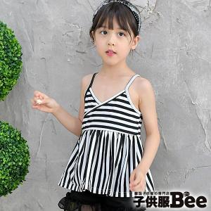 kyscle-s キャミトップス 韓国子供服 Bee キッズ 女の子 ノースリーブ ボーダー 春 夏 100 110 120 130 140 150|kodomofuku-bee