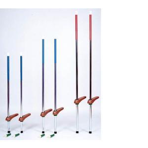 第一竹馬 カラー竹馬 中(120cm〜150cm目安) 青 補助具付き 日本製|kodomor