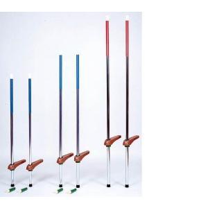 第一竹馬 カラー竹馬 中(120cm〜150cm目安) 赤 補助具付き 日本製|kodomor