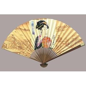 マジック扇子 歌麿 うちわ美人 おひさ  日本のお土産 日本の伝統 浮世絵 唐木 葛飾 扇子 送料無料 sensu utamaro|kodomor