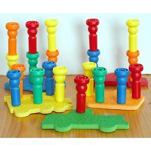 教育玩具  棒立て   ローリー知能開発玩具 トランスポーテーションペッグセット  知育玩具  幼児教育  幼児教室...