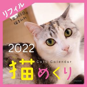 シーオーツー 猫めくり 2022年 カレンダー リフィル 日めくり CK-C22-02 送料無料の画像