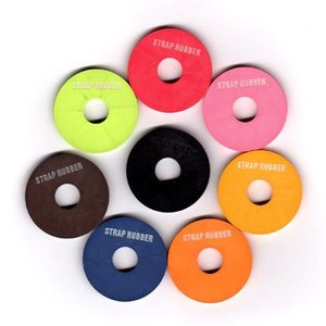 簡単に使えて効果的!画期的なラバー製の ストラップ留めツールです。ストラップが ピンから外れるのを防...