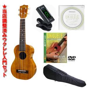 S.Yairi YU-S-01K ウクレレ入門セット (教則DVD、チューナー、スペア弦、ケース付き)|koeido1